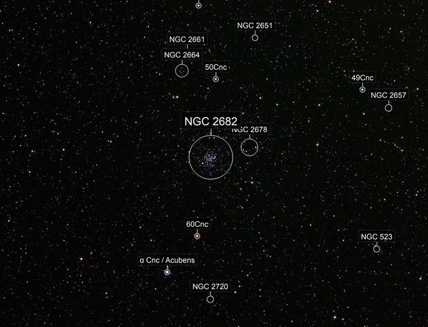 Messier 67 open cluster - Wide field