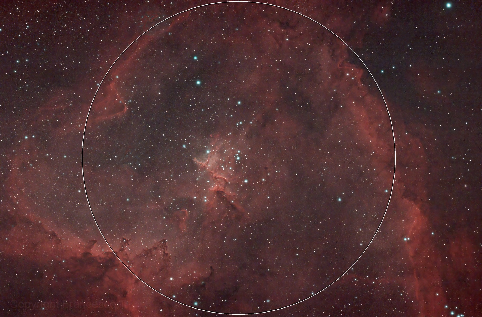 Central part of the Heart Nebula (IC1805)