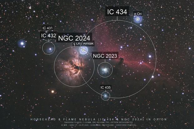 Horsehead & Flame Nebulas : first light ASI183MC Pro