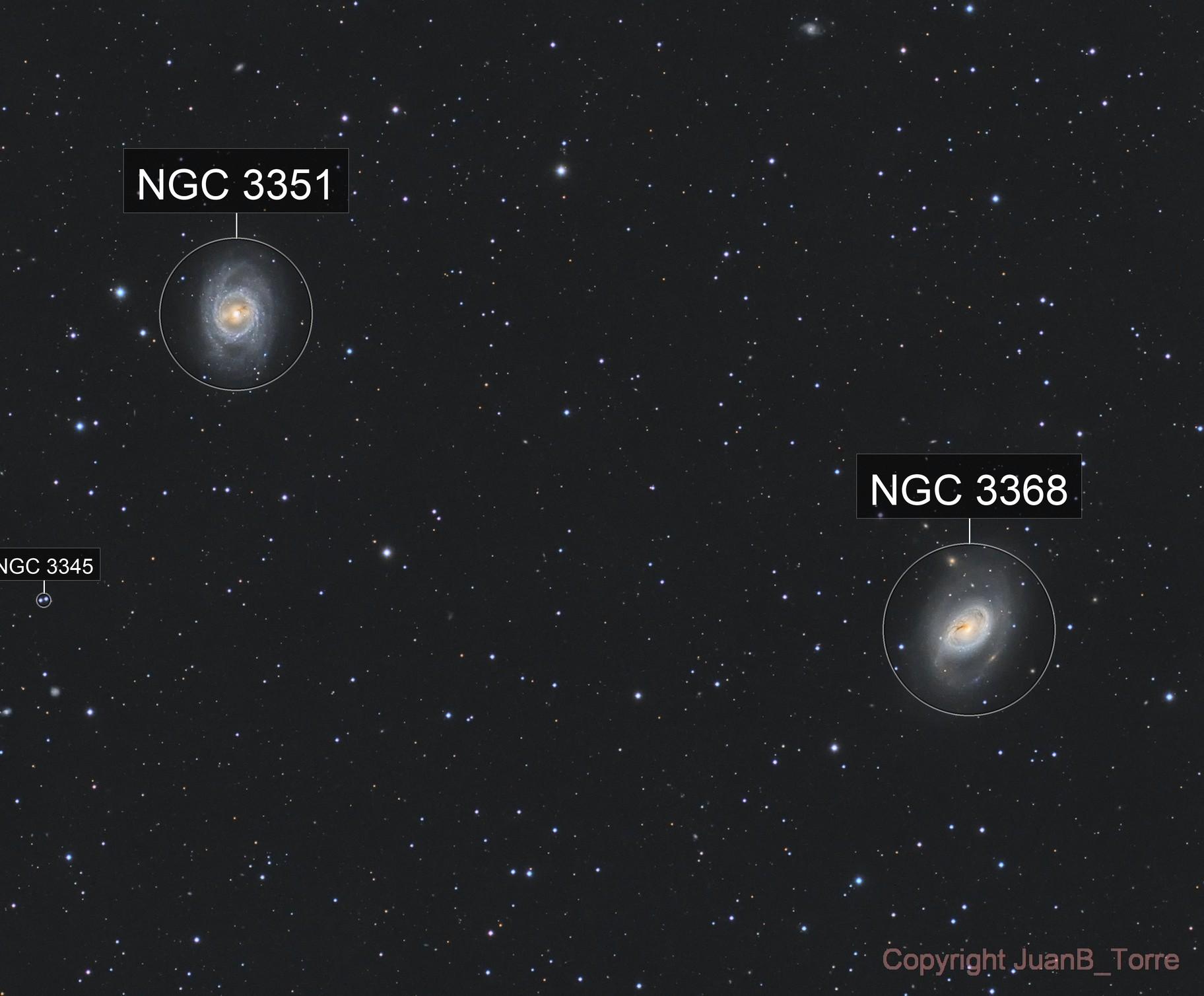 M95 and M96. Leo Galaxies