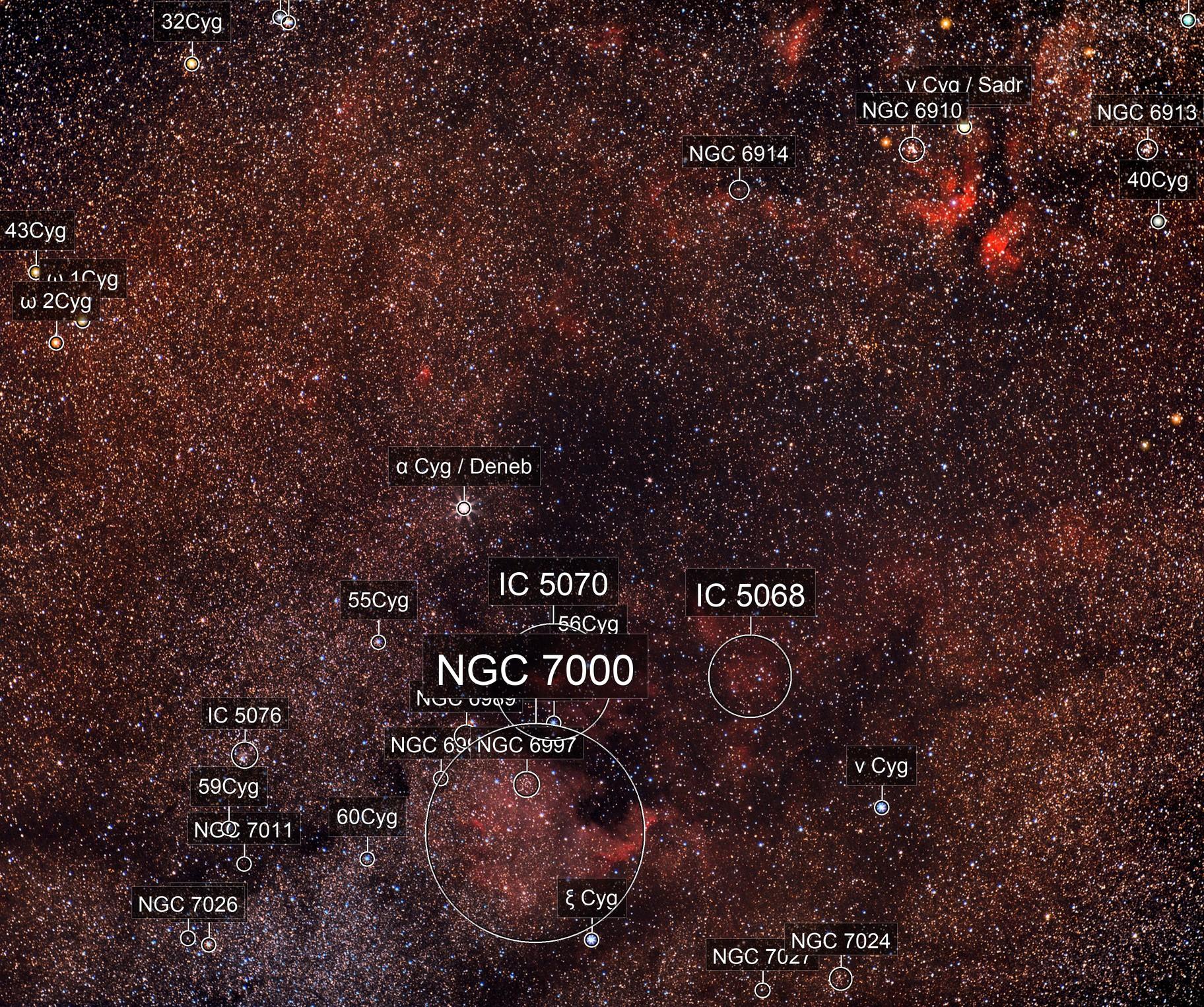 Cygnus Nebulae NGC7000 and Co / Old data sept 2016 / Canon 100Da + Samyang 85mm APO f/1.4