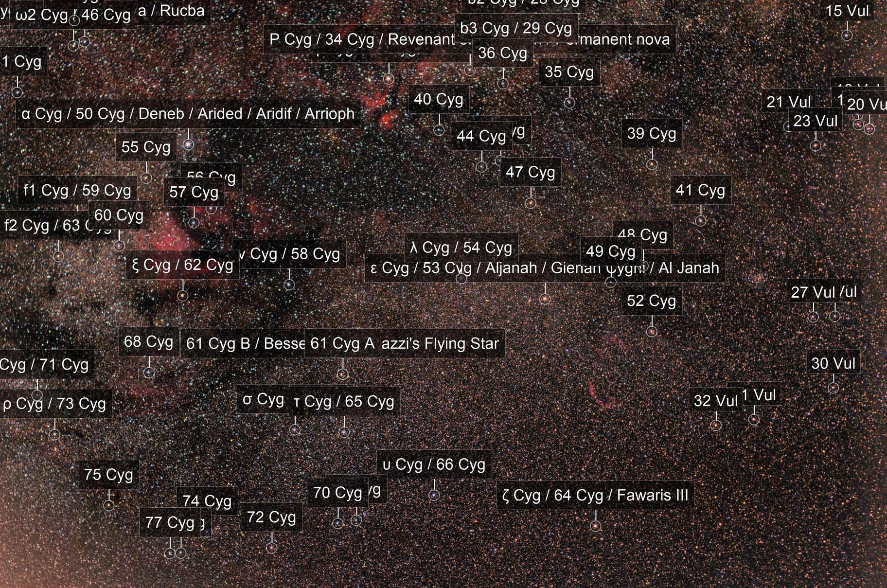 Cygnus wide field no mount Astrotracer / Pentax K30D astrodon + Pentax 50mm f/1.7  /  400 iso