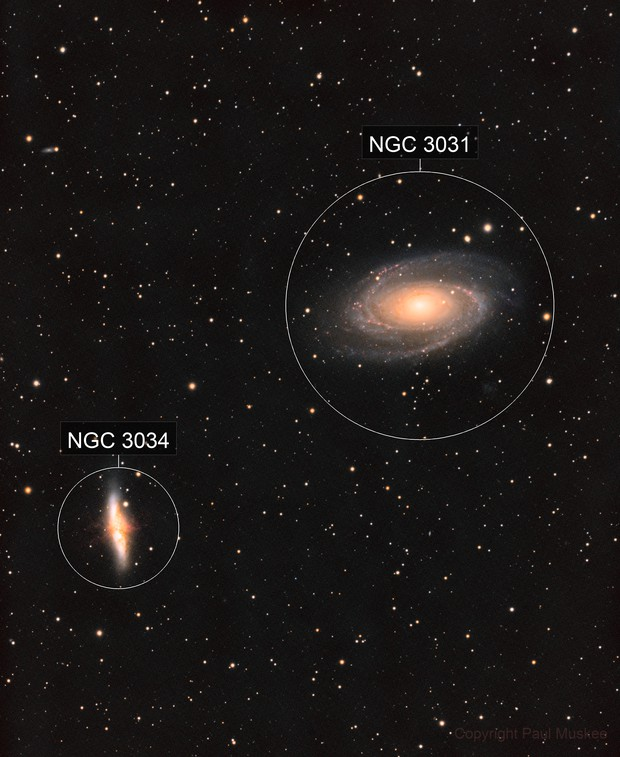 M 81 and M 82 Ha + LRGB first test