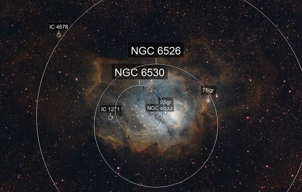 M8 Lagoon Nebula SHO