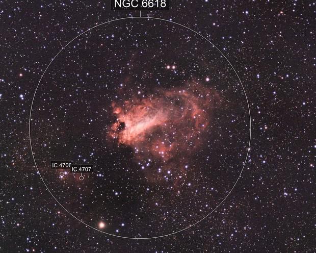 M17 Swan Nebula HaLRBG