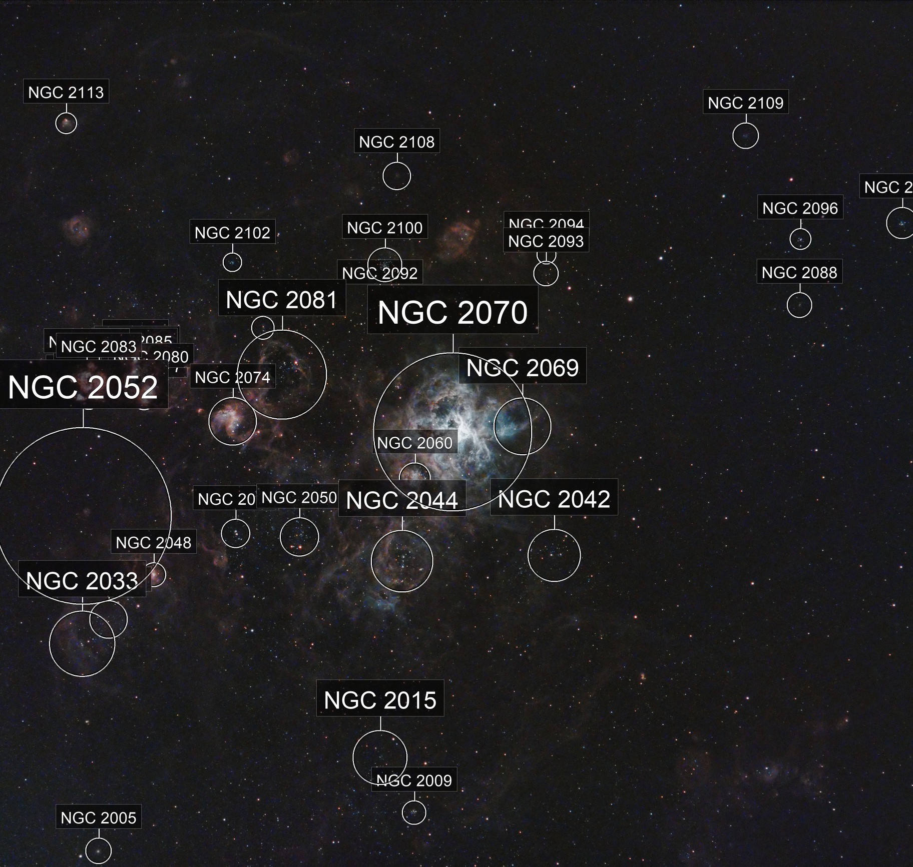 Tarantula Nebula narrowband