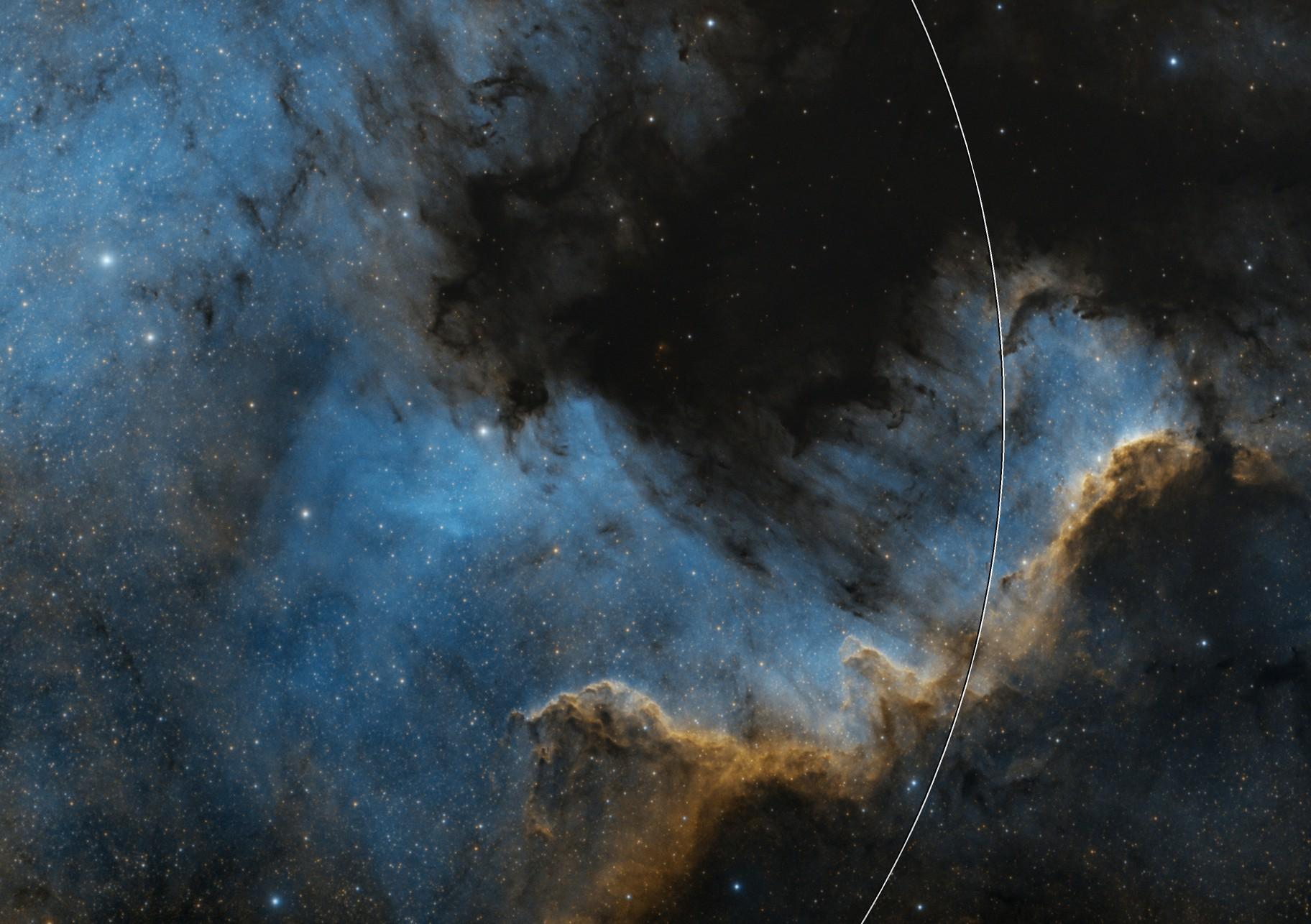 NGC 7000 North America Nebula / Cygnus Wall (SHO)