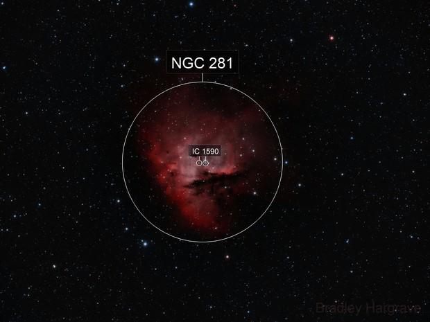Pacman Nebula HOO