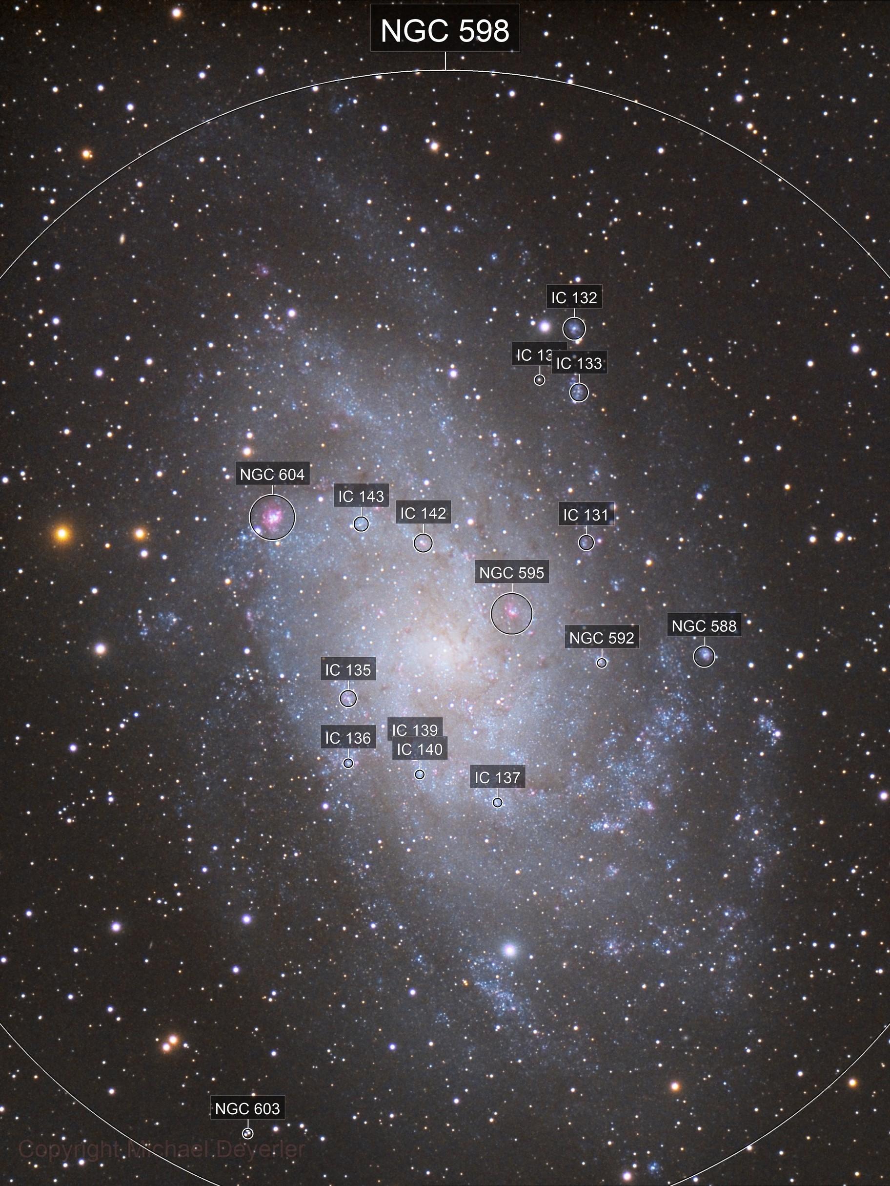 M33  Triangulum Galaxy  -  A Two Panel Mosaic