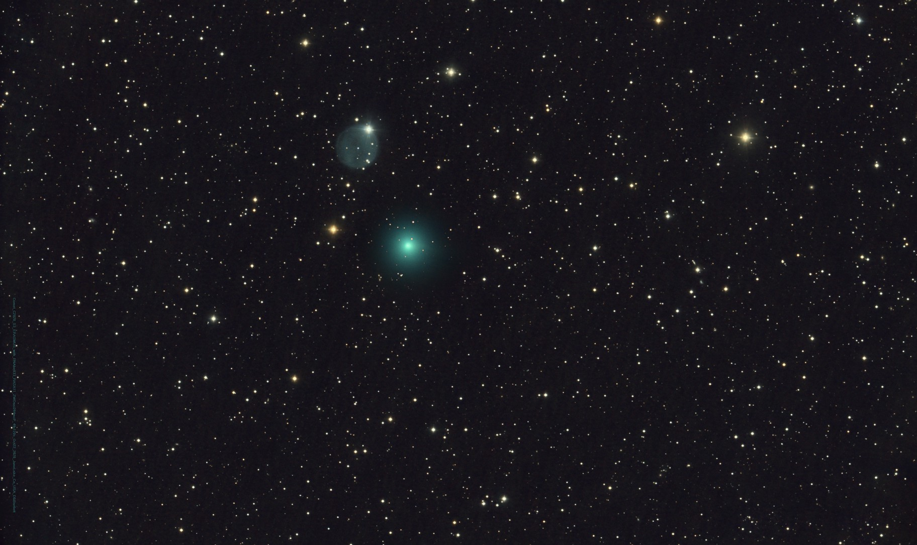 A Ghostly Visit...Comet C/2020 S3 Erasmus closes in on Planetary Nebula Abell 33