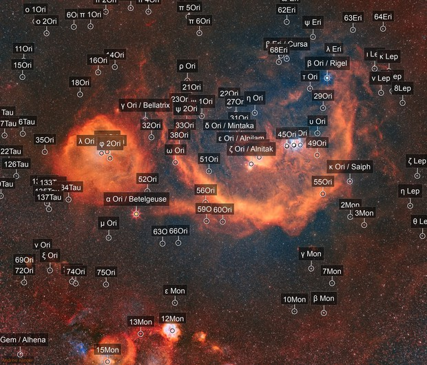 The Orion Molecular Cloud Complex presented in SHO
