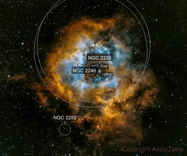 NGC 2237,  SHO