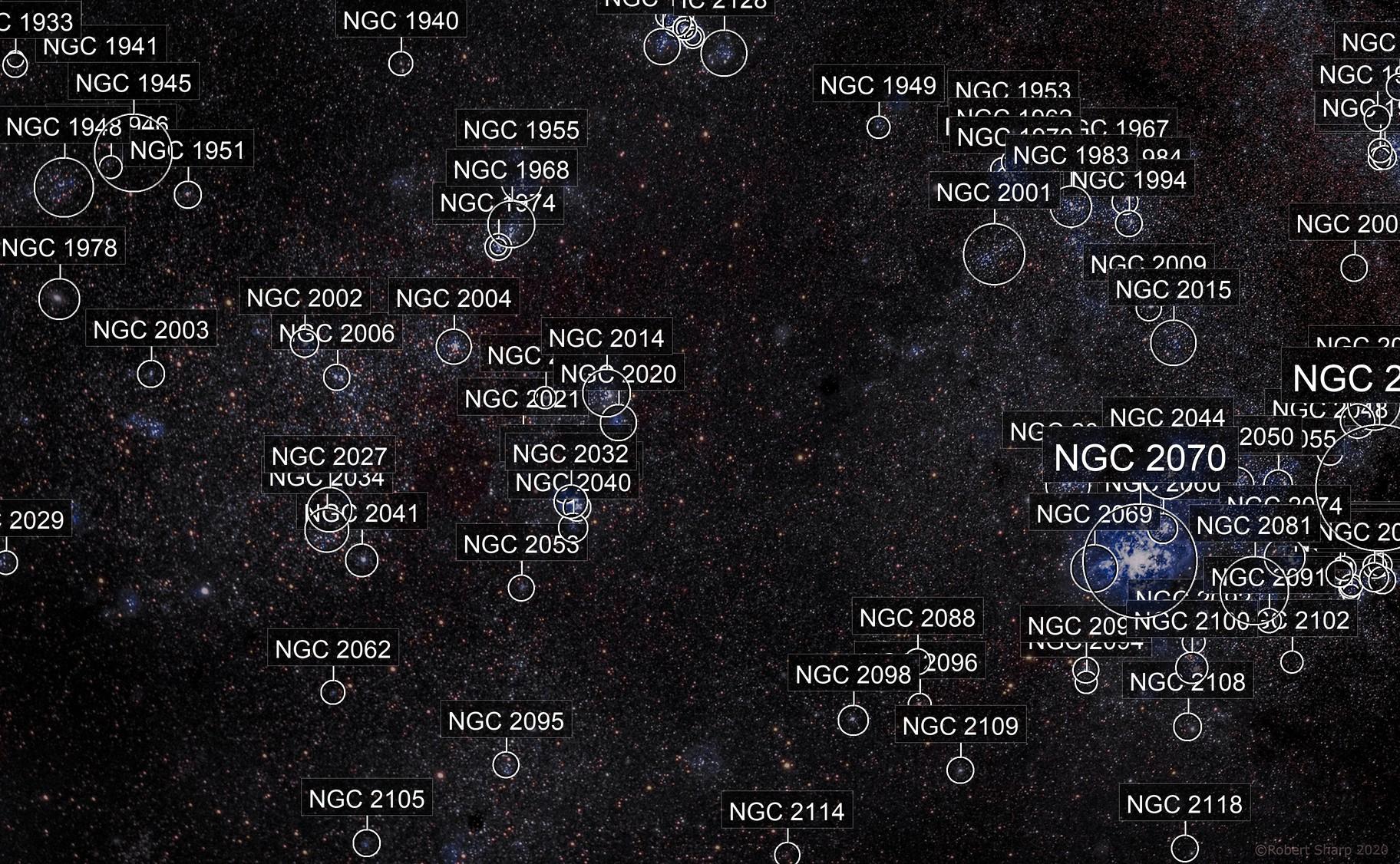 NGC 2070 Tarantula Nebula in LMC
