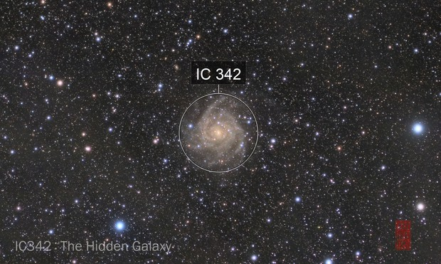 IC 342 with IFN by 70mm refractor