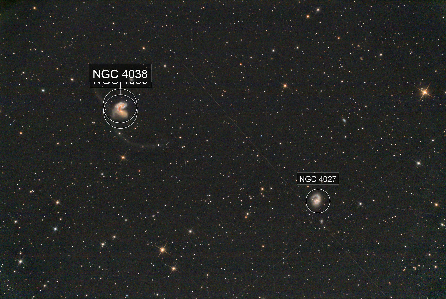 Antannae and NGC 4027 & others