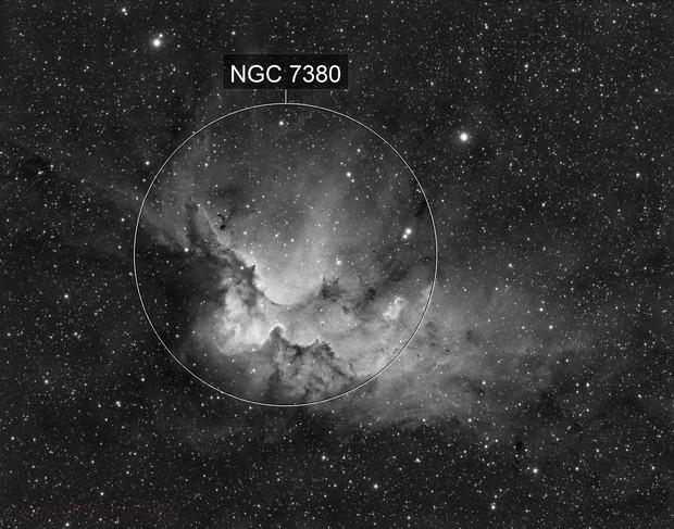 Wizard Nebula NGC7380 Ha
