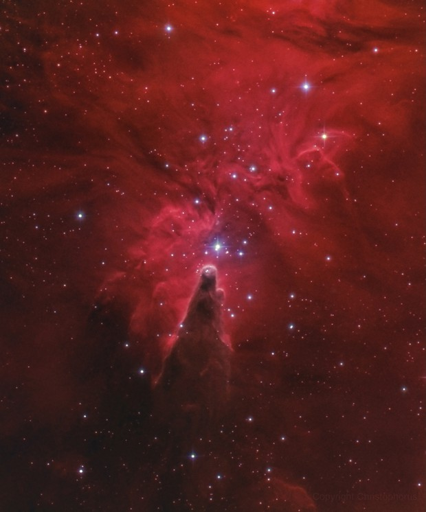 The cone nebula in H alpha RGB