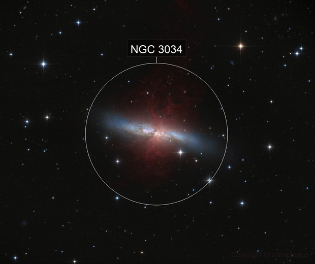M 82 with deep H alpha