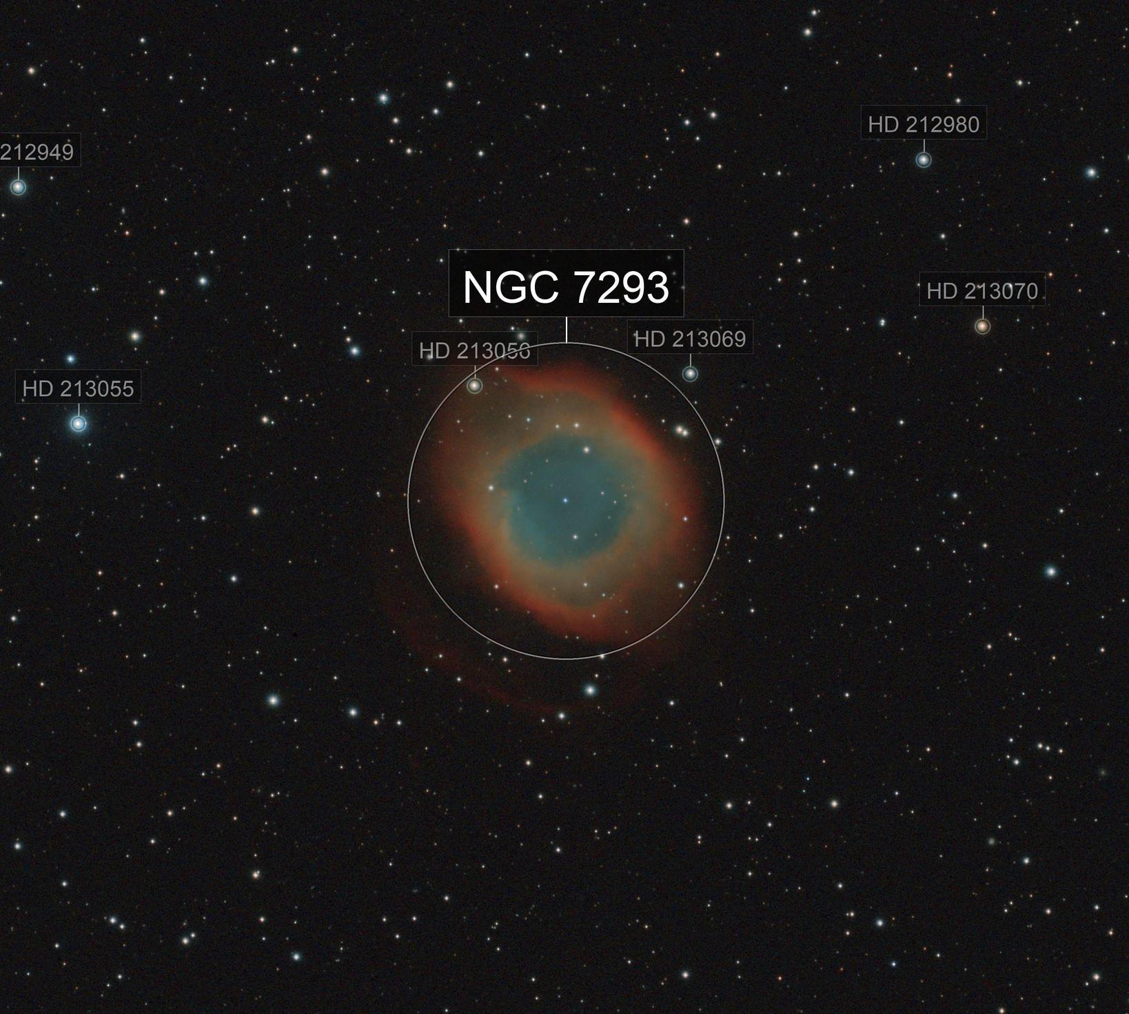Helix Nebula - 1 hour integration