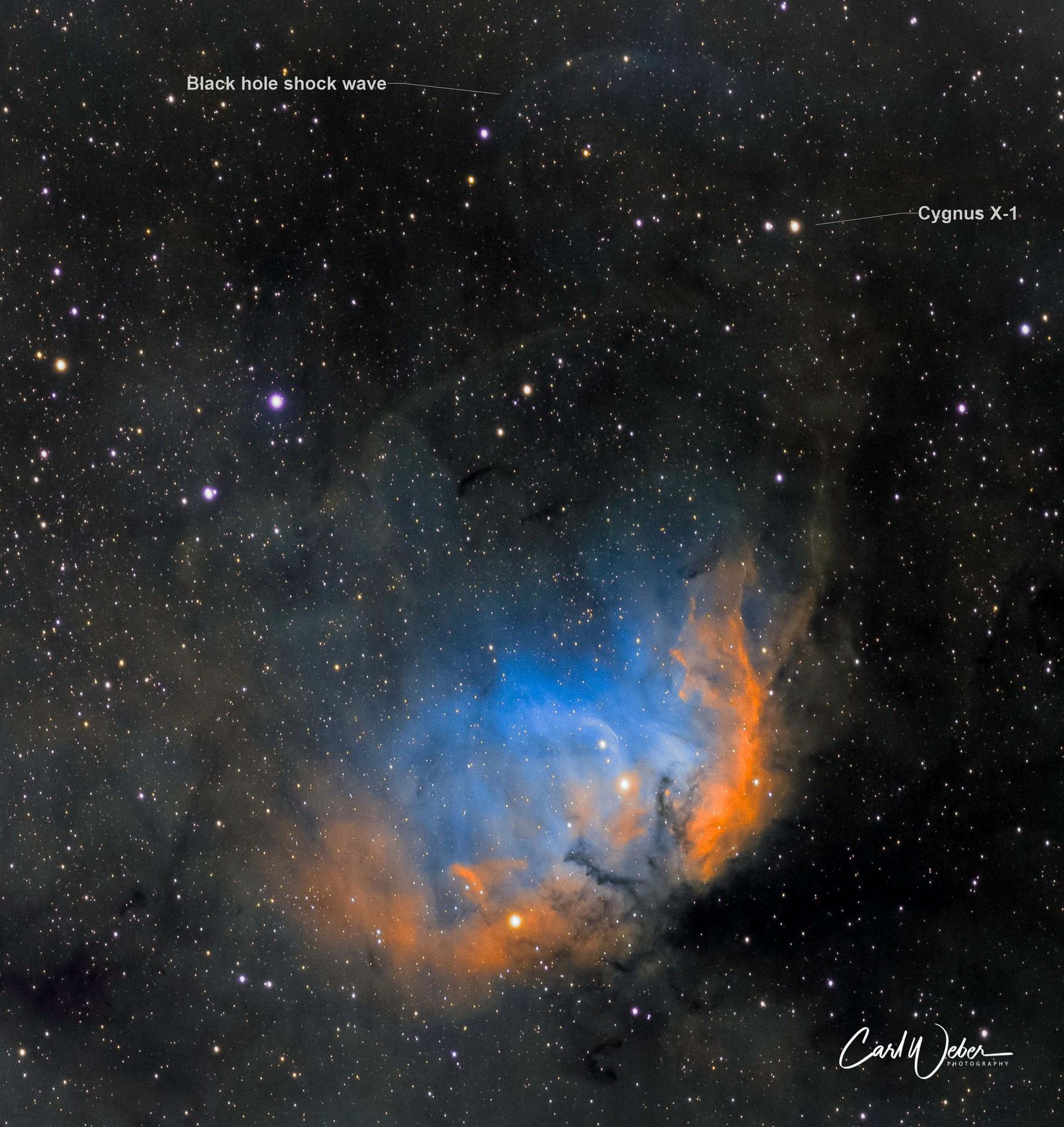SH2-101   The Tulip Nebula with Shockwave