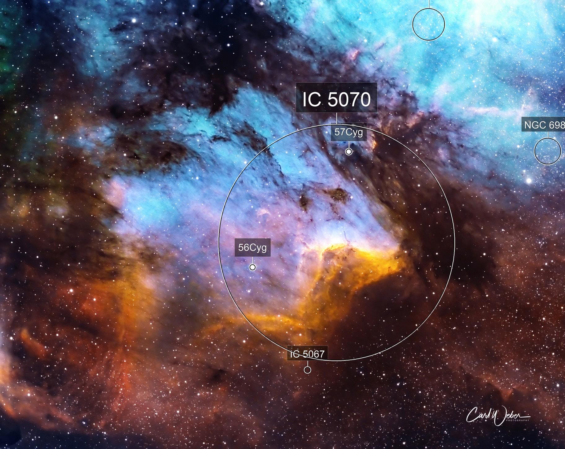 IC 5070  The Pelican Nebula