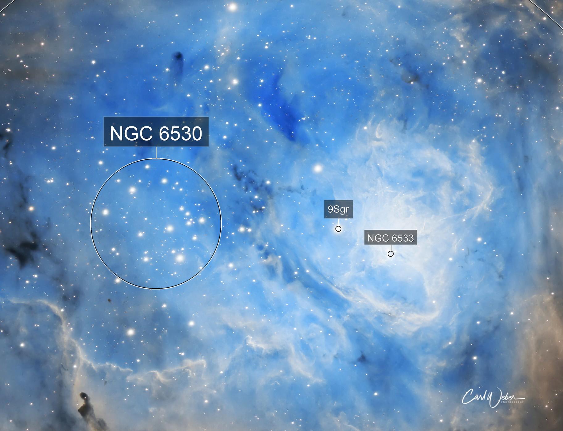M8 Core of Lagoon Nebula