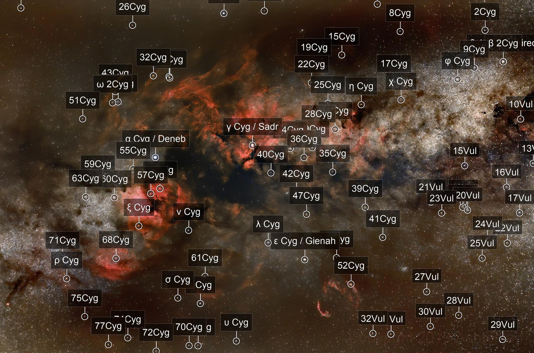 Cygnus Region of  The Milky Way - Widefield