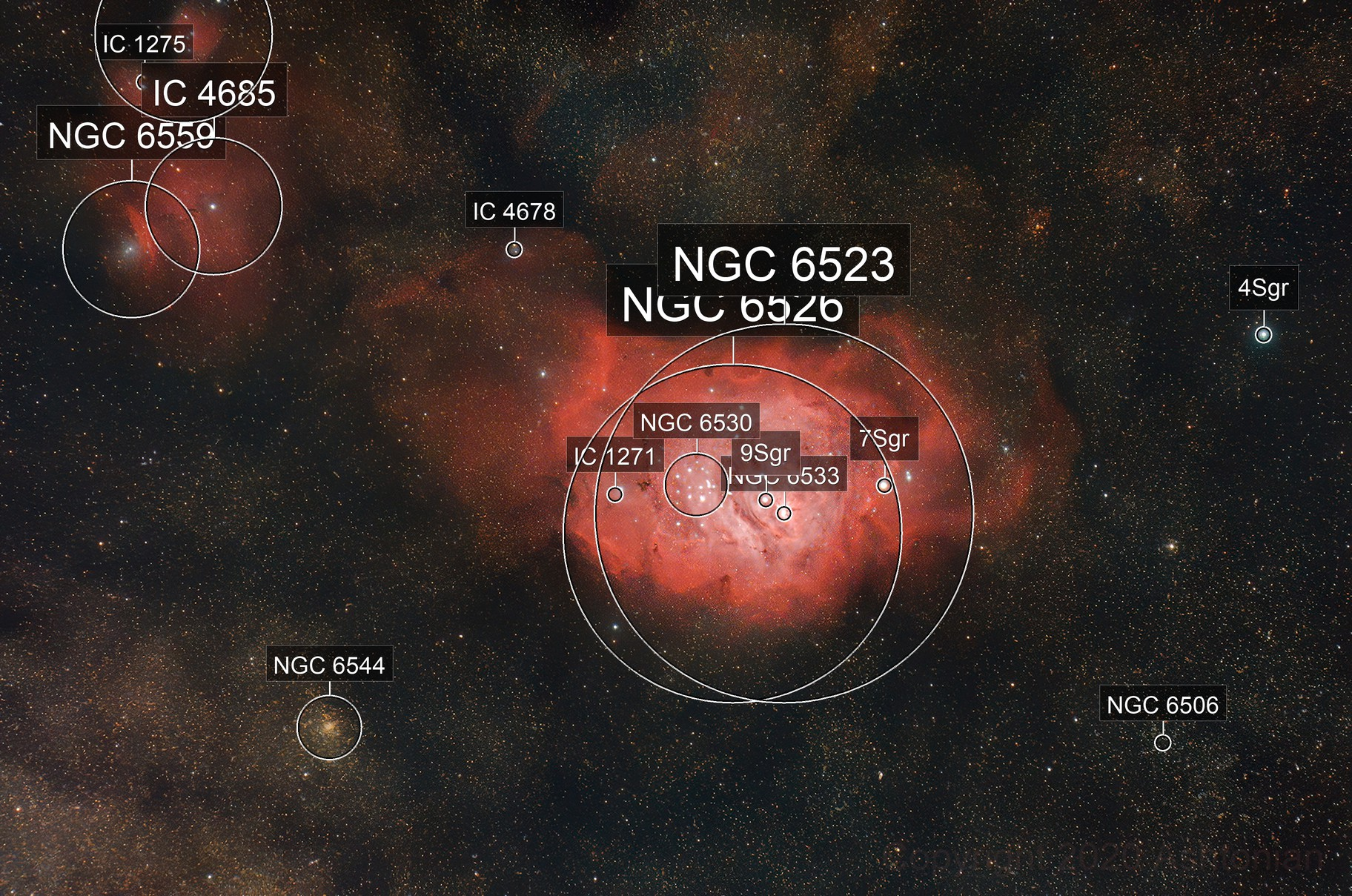 Messier 8: The Lagoon nebula