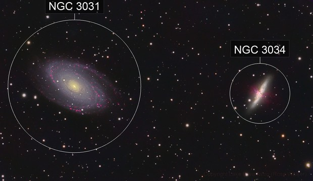 M81 & M82, Bode's and Cigar Galaxies