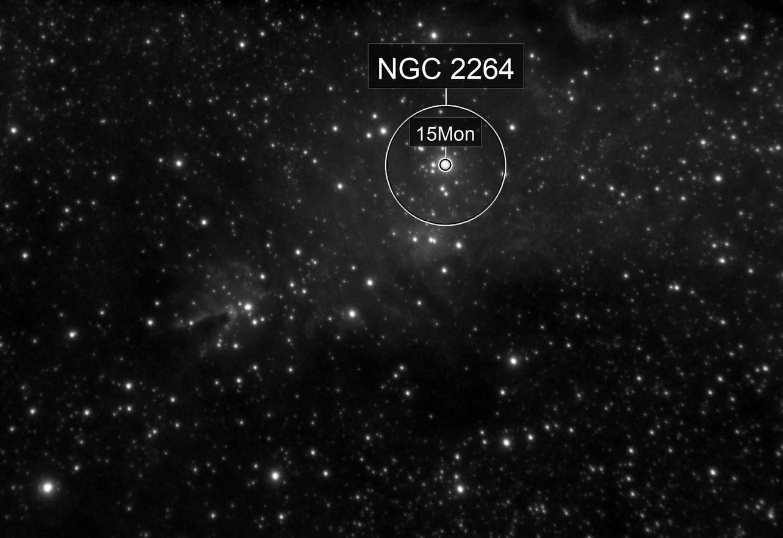 NGC2264 - Cone Nebula and Christmas Tree Cluster - Evoguide ED50 - H-alpha