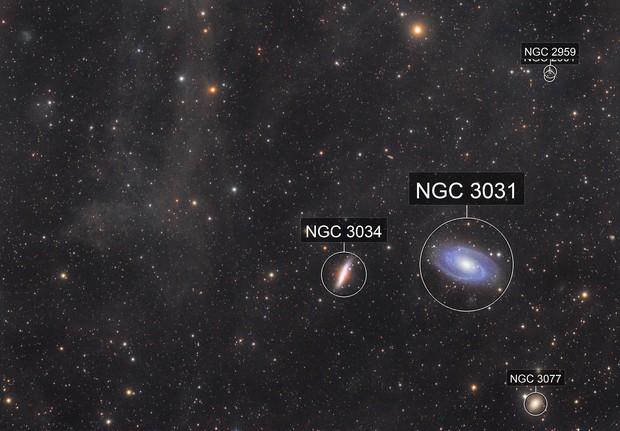 M81 Bode's galaxy, M82 Cigar galaxy and IFN
