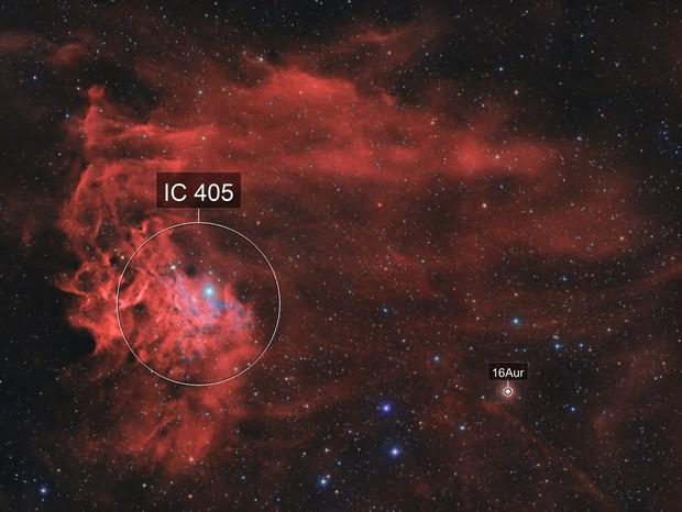 IC405 Flaming Star Nebula