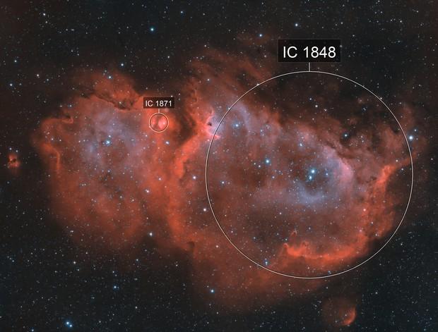 IC1848 Soul Nebula HaO3