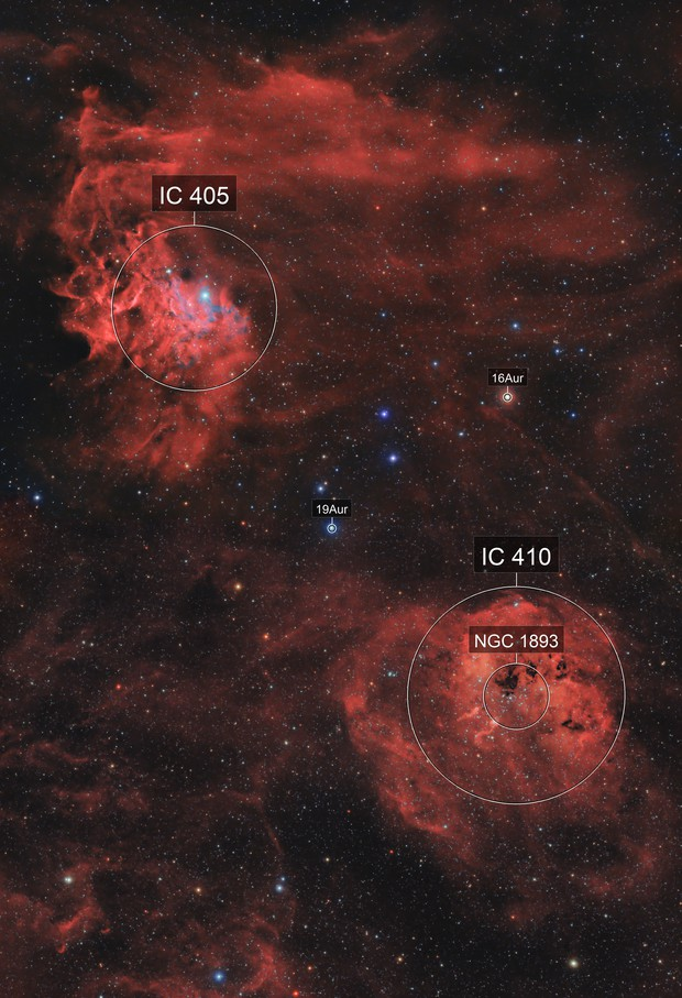 Mosaic of IC405 and IC410