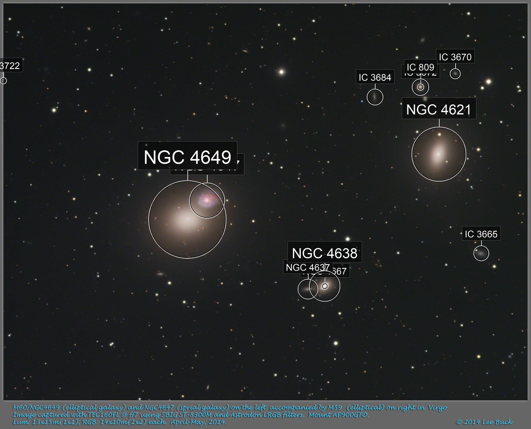 M59 (right) and M60 (left) in Virgo