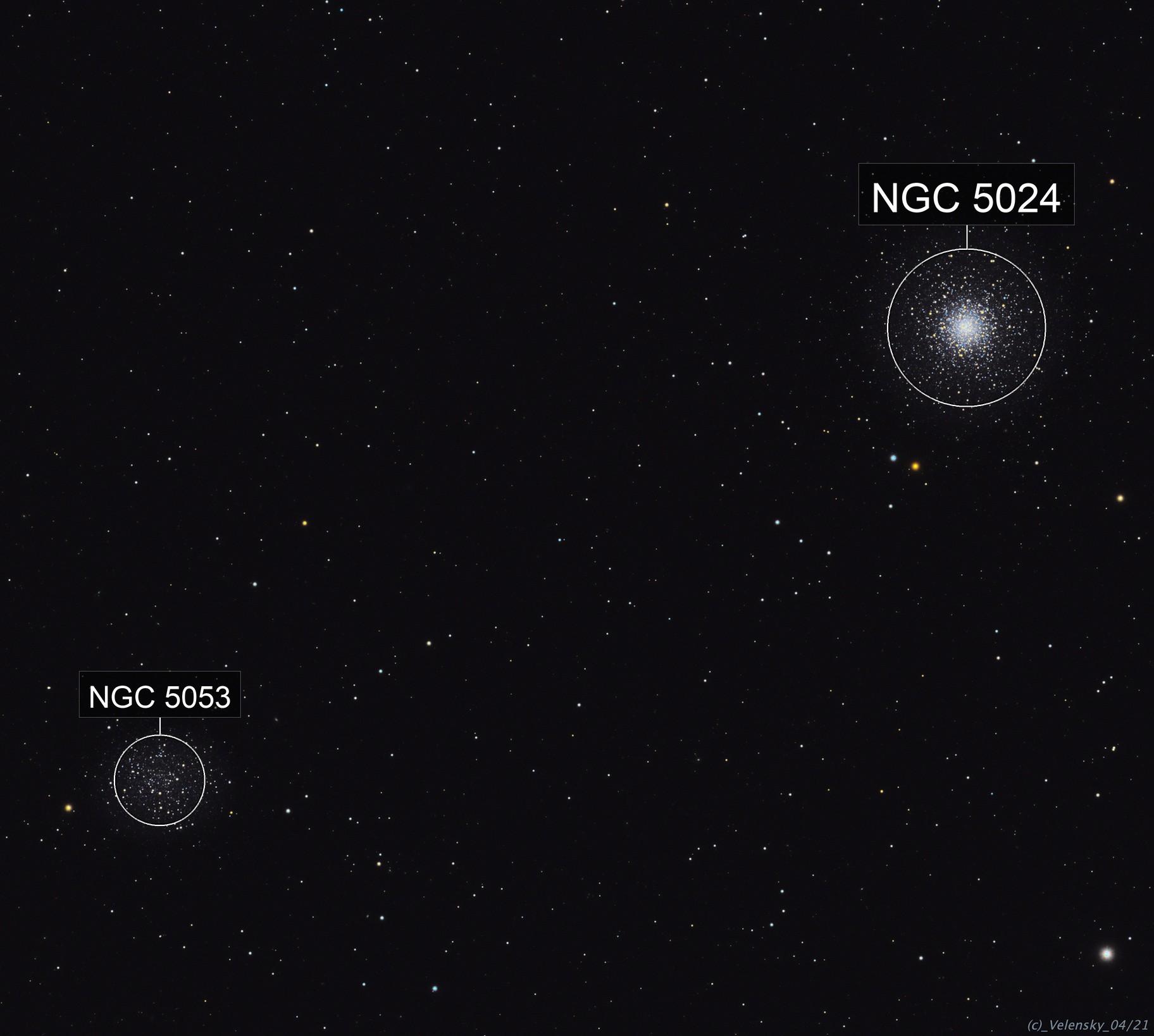 M53 / NGC5053 Globular Clusters
