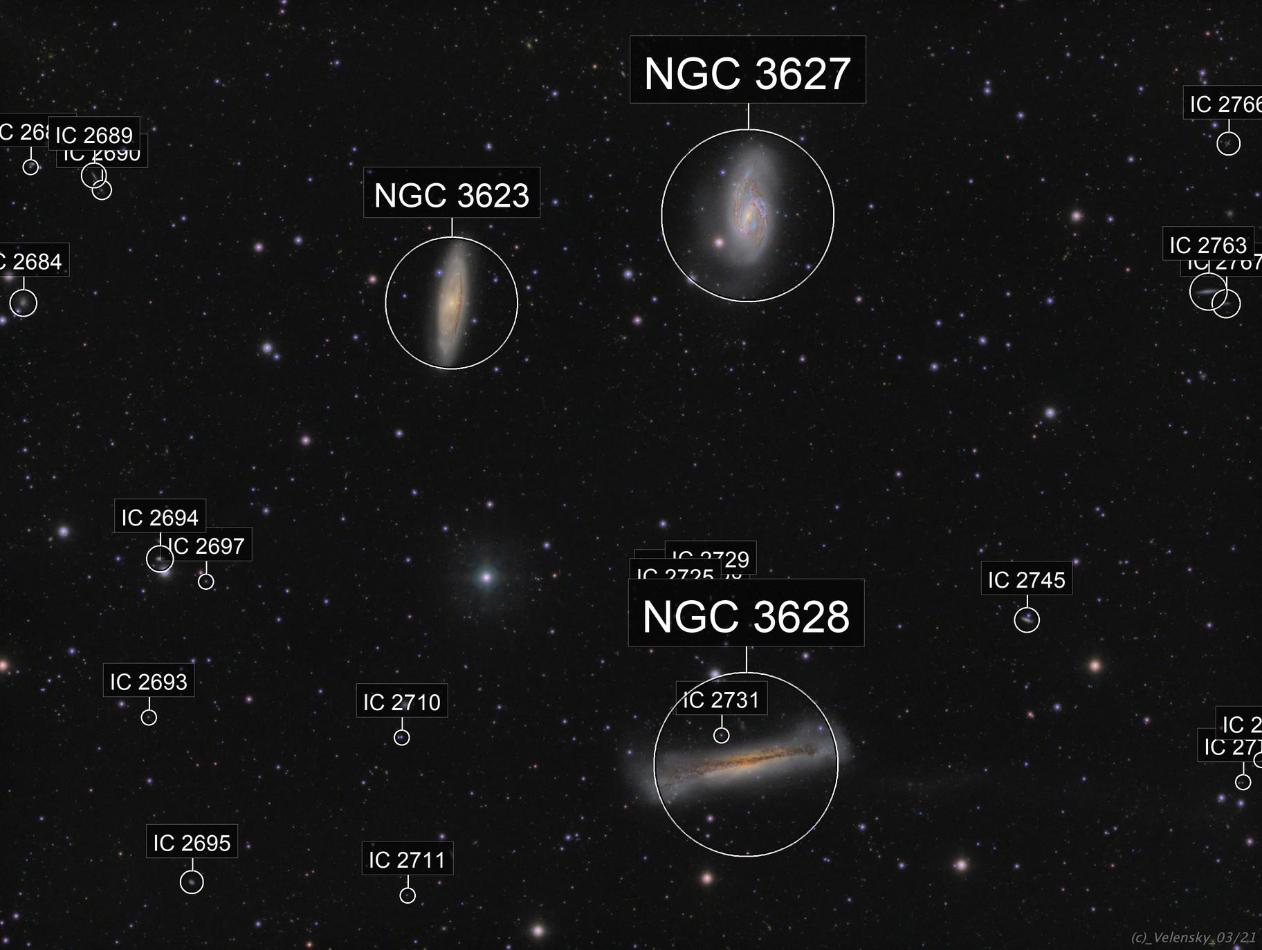 Leo Triplet - M65 / M66 / NGC3628