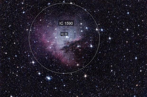 NGC 281 -  The PacMan nebula unmodified