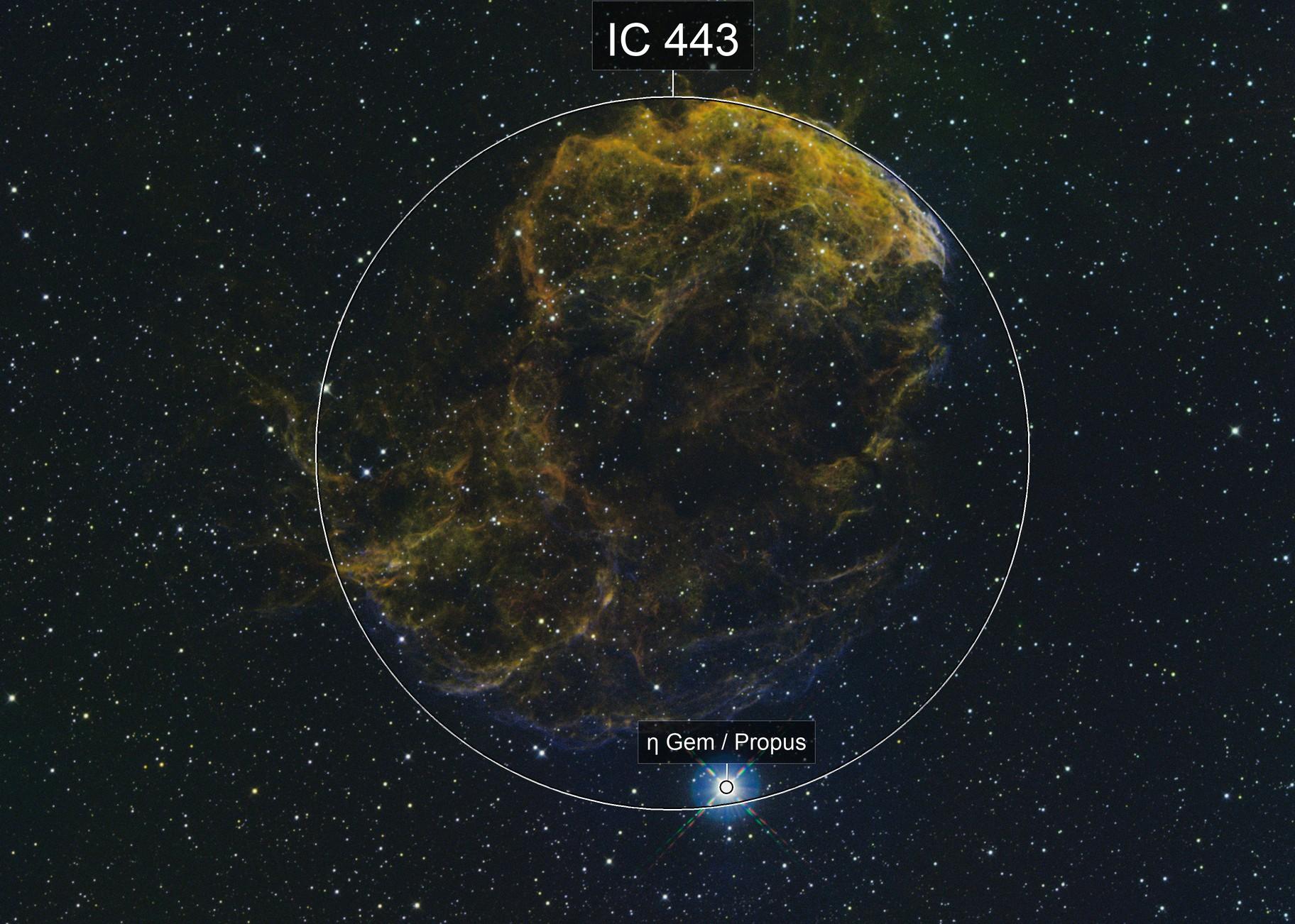 IC443(Jellyfish Nebula) SAO