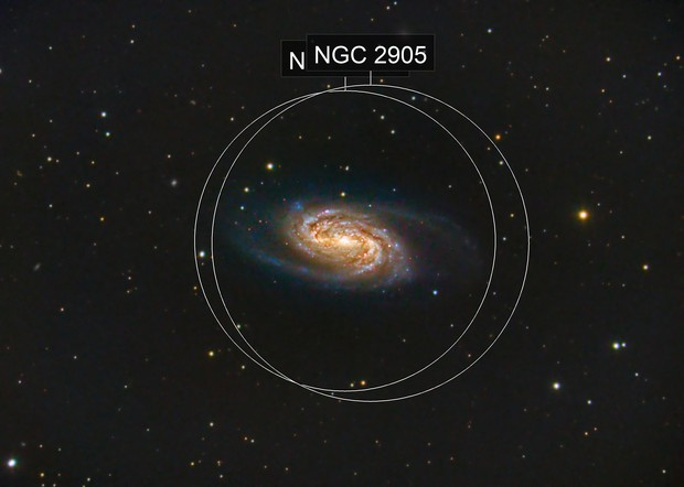 NGC 2903 Barred Spiral Galaxy in Leo