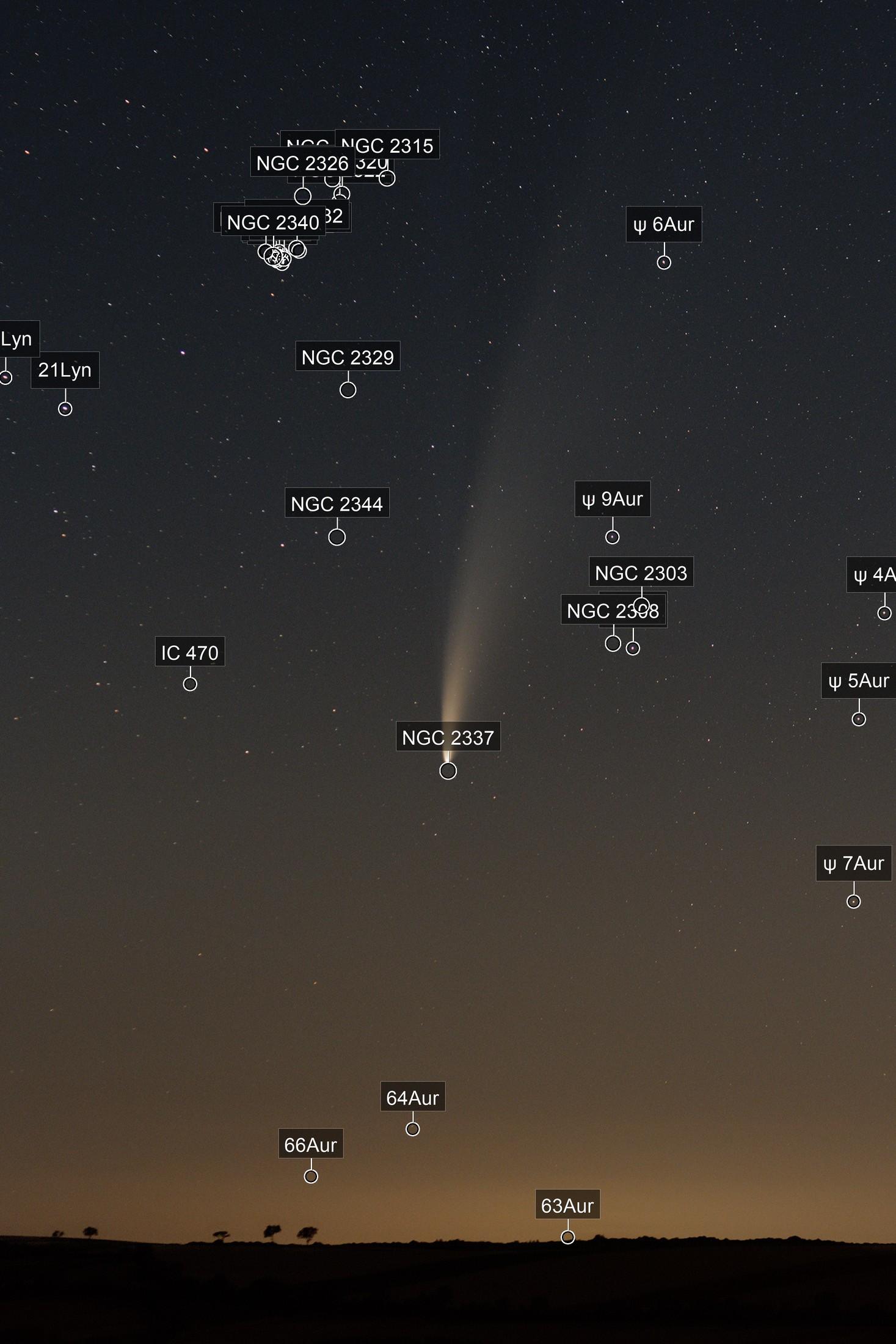 Comet Neowise near Großmugl, Austria