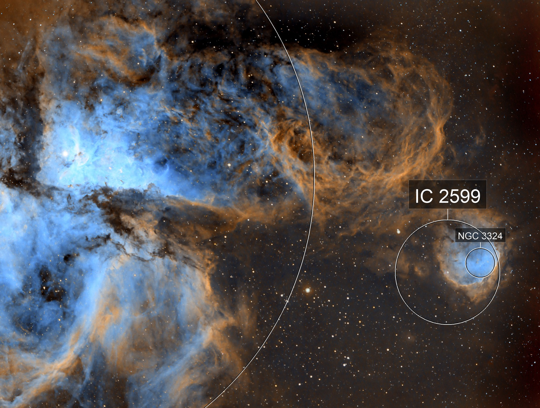 NGC 3324 GABRIELA MISTRAL