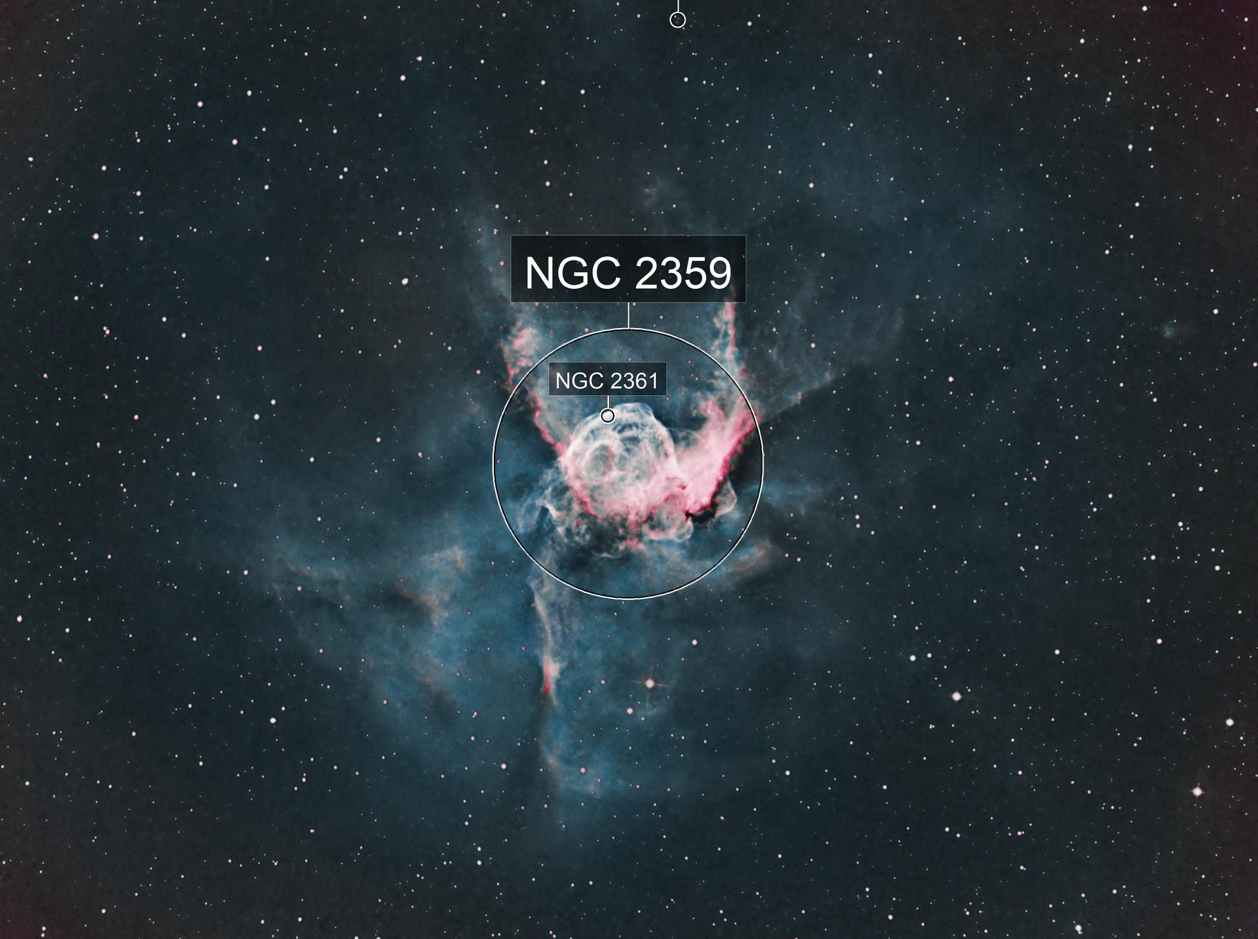 NGC2359 , SH2-298, Thor's Helmet