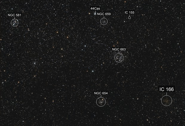 Cassiopeia clusters