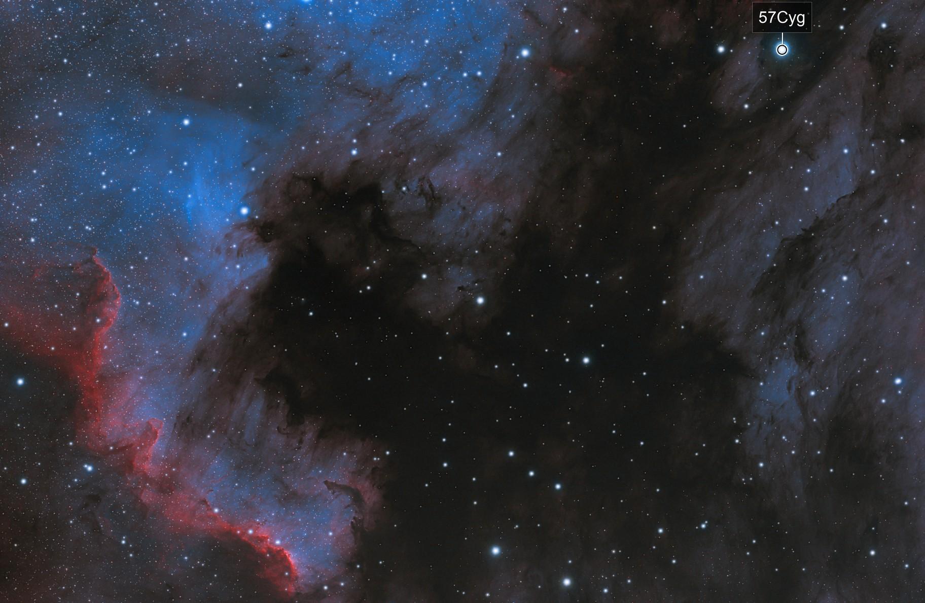 NGC 7000 + IC5070 HOO