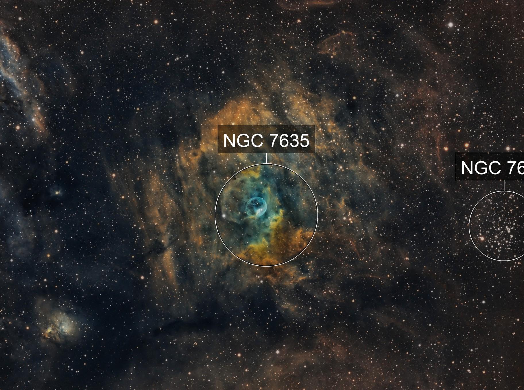 NGC 7635 - Bubble Nebula SHO