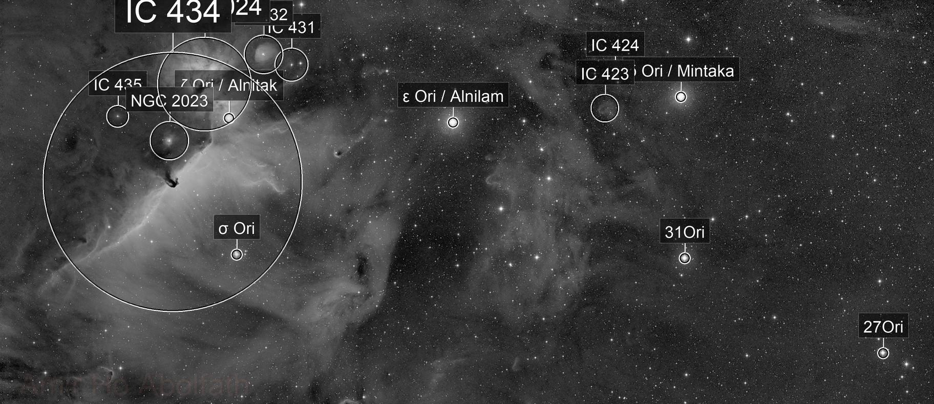 Orion Belt in Ha