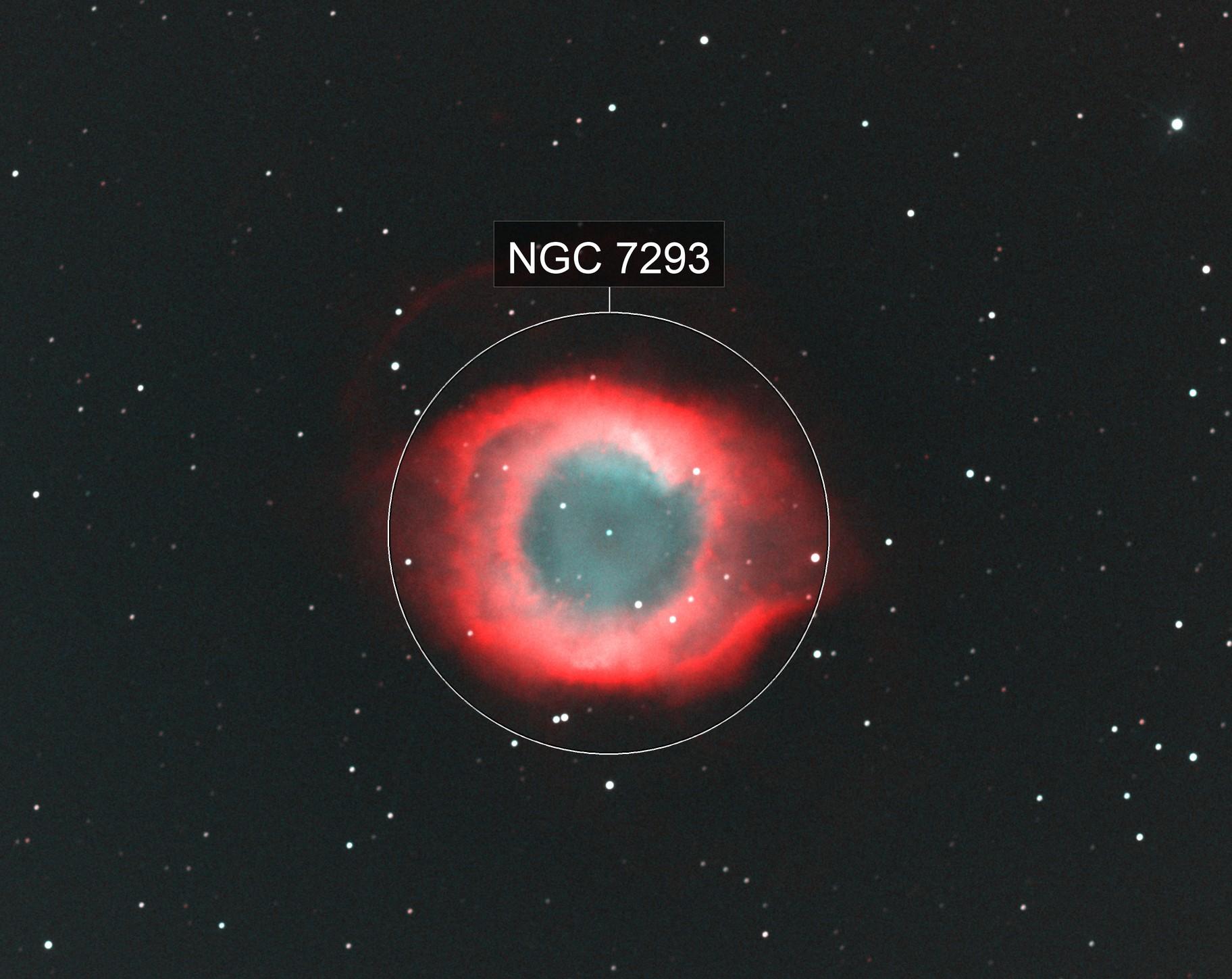 Helix Nebula in Ha and OIII