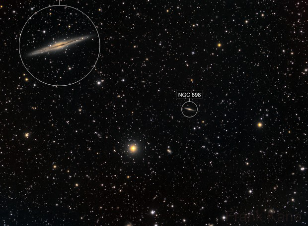 """NGC 891 """"Silver Sliver Galaxy"""" and friends"""