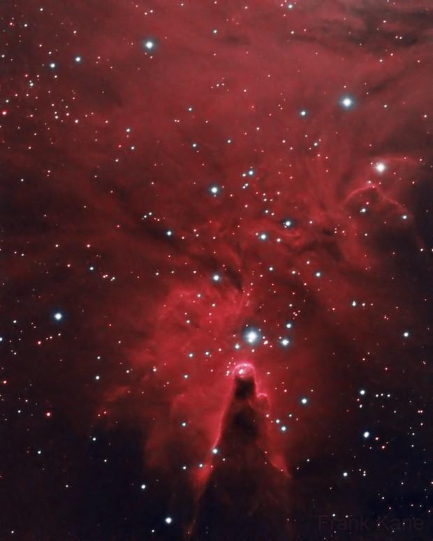 Cone Nebula in Narrowband